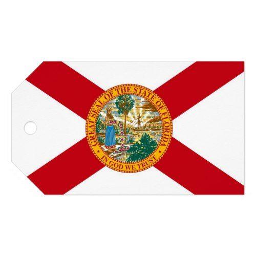 Gift Tag With Flag Of Florida State Usa Florida State Flag State Flags Gift Tags