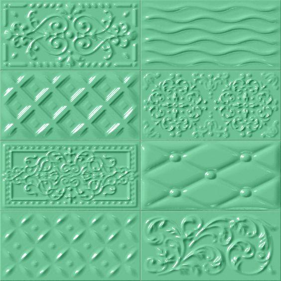 Evtl. als Cheminee-Verkleidung (oberer Teil, unten Beton oder ähnliches). MUGAT - RIVOLI: Raspail Oliva - 10x20cm. | Wall Tiles - Red Body | VIVES Azulejos y Gres S.A.