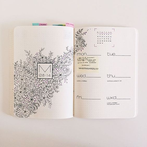 daily idées bullet journal