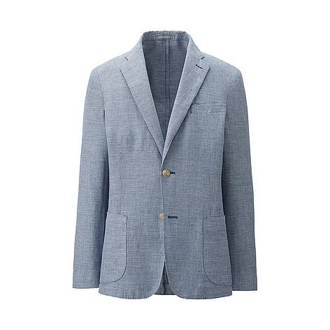 MEN Linen Cotton Slim Fit Jacket