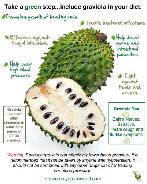 healthy fruit crumble soursop fruit