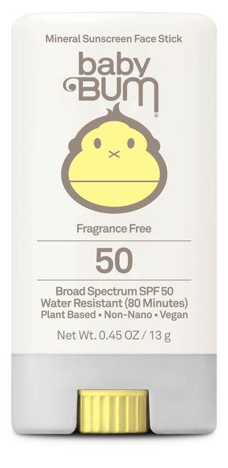 Baby Bum Mineral Sunscreen Face Stick SPF 50 Fragrance Free, 0.45 oz – Sun Bum