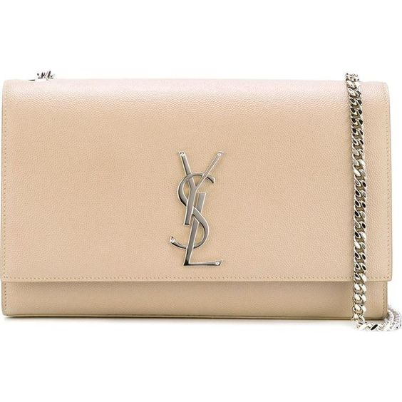 ysl black leather bag - Saint Laurent Classic Monogram Clutch ($1,990) ? liked on ...