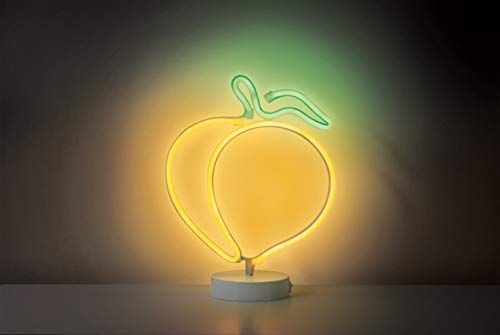 Merkury Innovations 12 Peach Multi Color Led Lights Neon Signs Mood Light With Pedestal Battery Operated Night Li Led Lighting Bedroom Mood Light Night Light