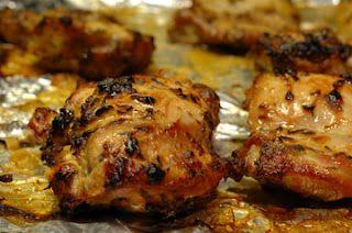 Dijon thyme chicken thighs