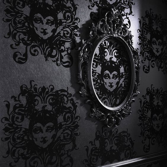 Gothic Design Wallpaper : Disney home and the wall on