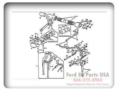 ford 8n 05b01 hydraulic lift shaft ford tractor
