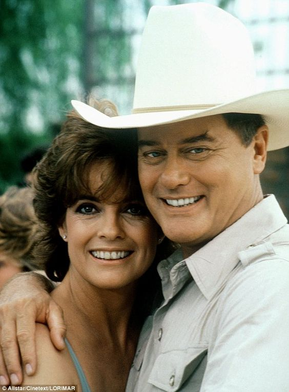 Linda Gray as sue ellen ewing | Last picture of Dallas star Larry Hagman shows the JR actor smiling as ...
