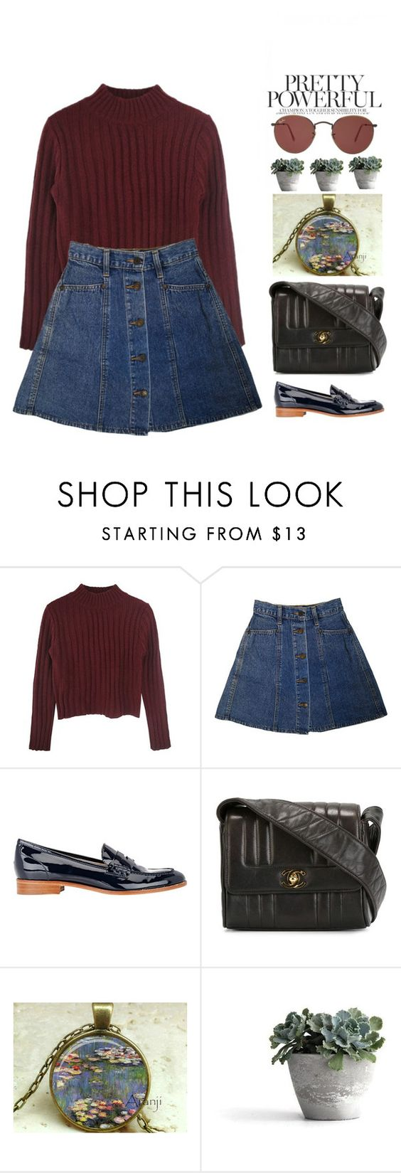 """""""Untitled #254"""" by mathildejohannessen ❤ liked on Polyvore featuring Barneys New York, Chanel and Ray-Ban"""