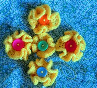 Amigurumi Loco: Modelo de flor Button
