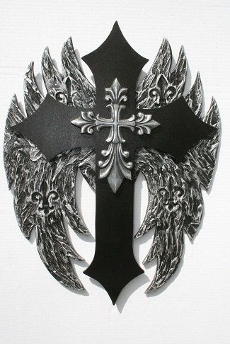 Angel Wing Cross withMaltese Pendant, (Fathers Day Alert ...