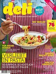 """Am 7. Mai war die 2. Ausgabe von deli am Kiosk. Deli"""" ist eine Mischung aus Koch- und Lifestyle-Zeitschrift und richtet sich in erster Linie an junge Frauen, die wenig Zeit zum Kochen haben. Herausgeber: Gruner + Jahr, Auflage: 150.000"""