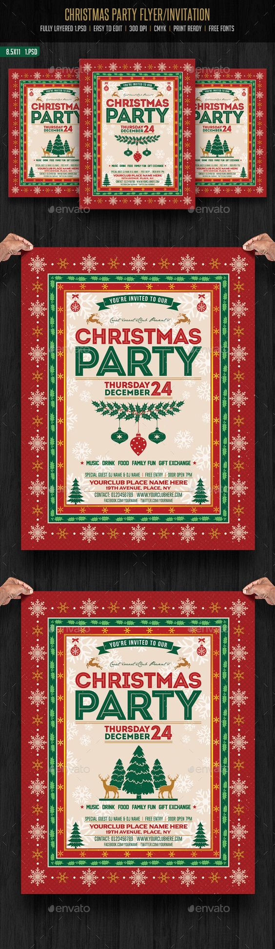 christmas parties seasons and design christmas party flyer invitation events flyers christmas newyears seasons