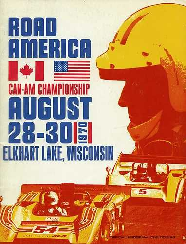 1970 Road America Elkhart Lake Can Am Race Program Peter Gethin McLaren M8D