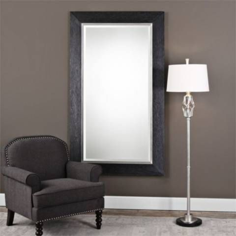 Uttermost Creston Black 41 1 2 X 71 1 2 Wood Floor Mirror