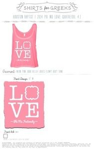 Image of Phi Mu Love Pink Bella Crop Top