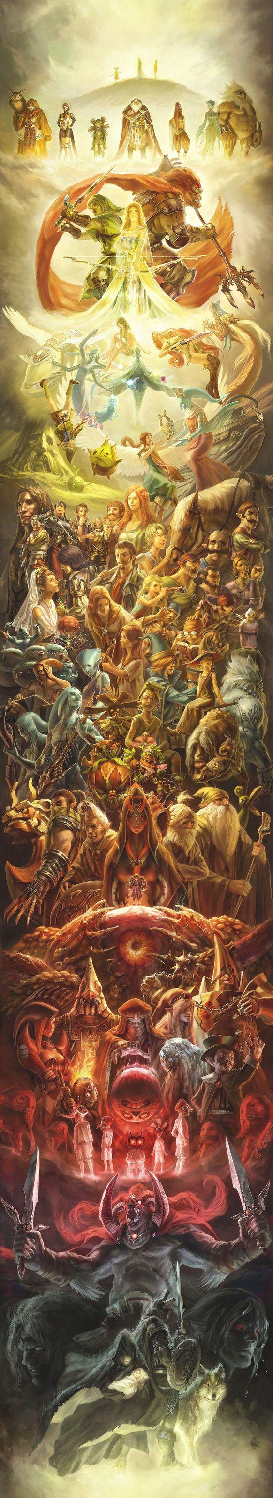 Zelda 25th Anniversary Artwork Masterpiece #nintendo #zelda #fanart