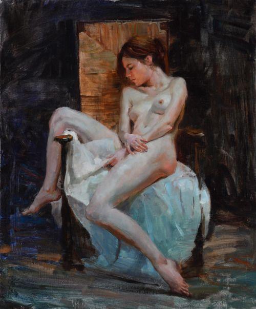 ewallisartist:  Nude At Rest 24x20in. o/l, Eric Wallis 2015