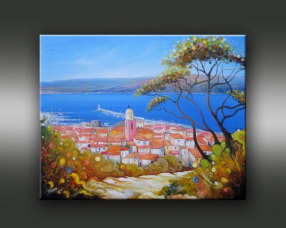 Achat vente de tableaux figutatifs peinture paysage et fleurs galerie table - Vente tableau peinture ...