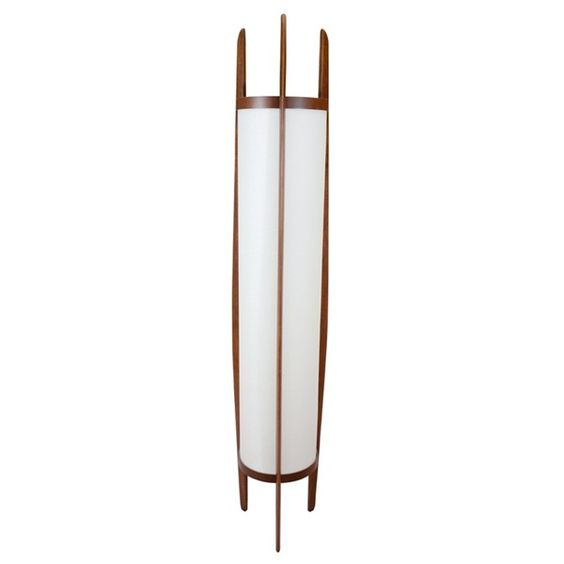 Teak floor lamps and lamps on pinterest for Modern tower floor lamp