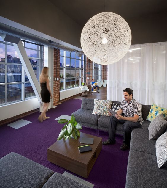 Moooi Random Light in Adobe's new office space via @designmilk
