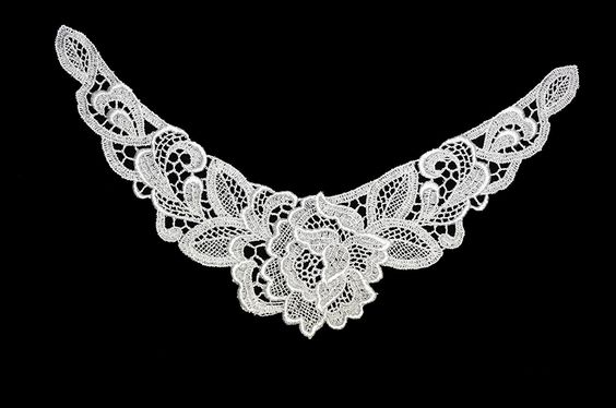 Altotux 9.5' x 6' White Floral Collar Neckline Motif Applique Patch By 2 Pieces >>> You can get more details by clicking on the image.