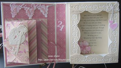 pamscrafts: 21st mock book someone special
