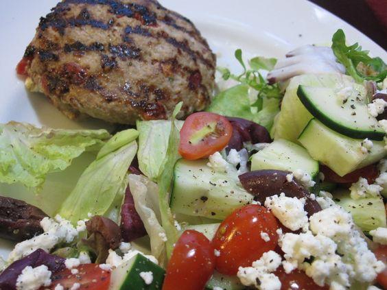 Greek turkey burgers, Greek salad and Turkey burgers on Pinterest