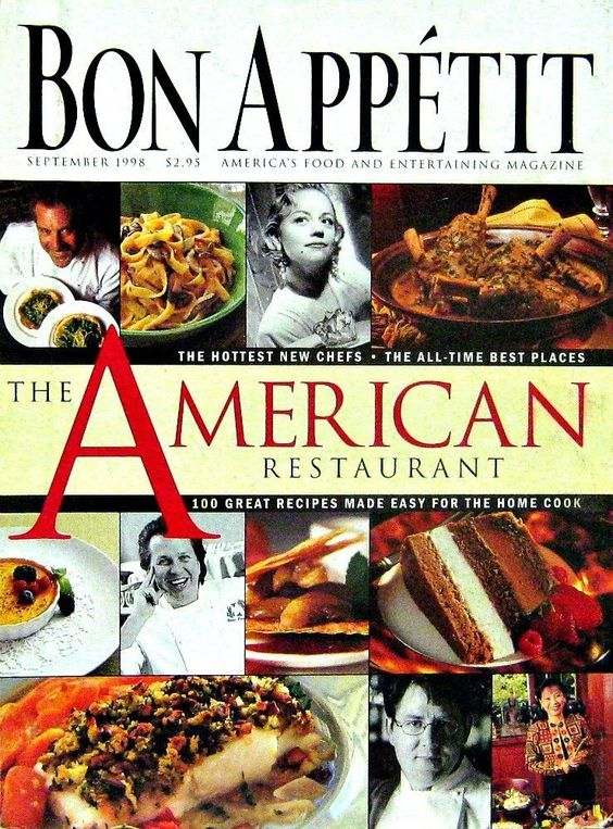 Buy any of our magazines get a second for 50% off. Purchase $25 or more and get free shipping too. The American Restaurant Issue, Bon Appetit, September 1998 Volume 43 Number 9