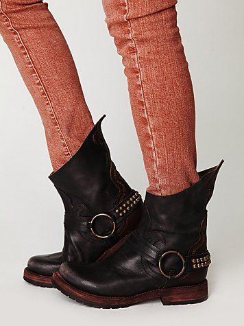 I am obsessed with these, and of course - they're sold out. I'm on a mission to find me a pair of these Hatchett Harness Boot's!