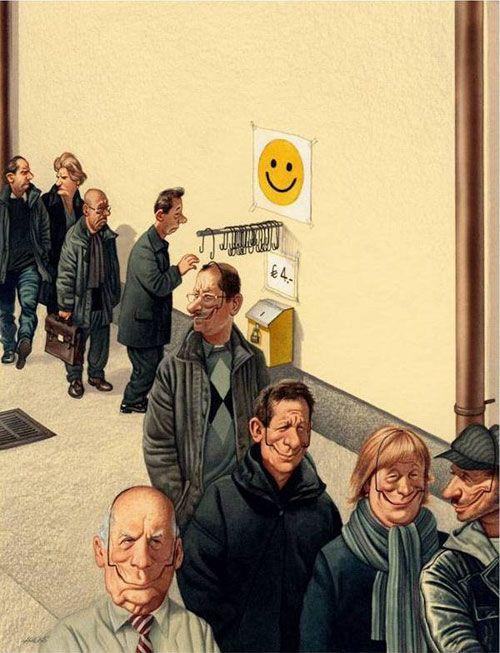 immer schön lächeln...