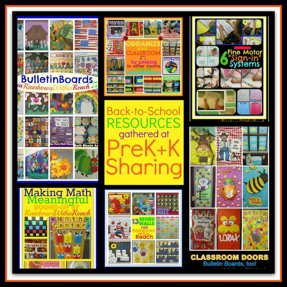 Back to School Resources of Support at PreK+K Sharing