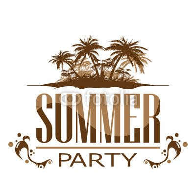 Vektor: summer_party_beach
