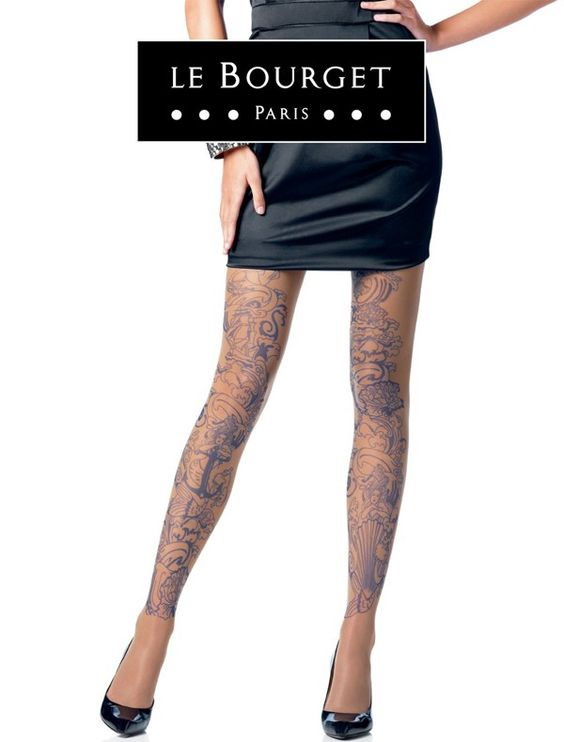 """le bourget sirene tattoo panty. Lovely panty for the """"rock chique"""" look ;-)"""