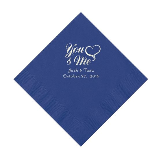 Purple Me & You Heart Personalized Napkins - Luncheon