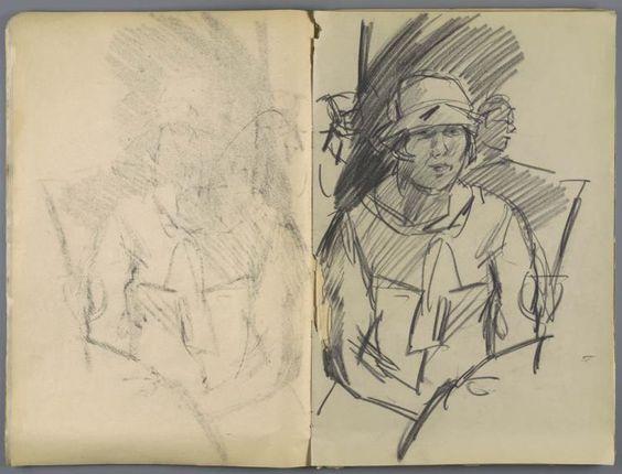 tekening, schetsboek na (1885 - 1934) Isaac Israels