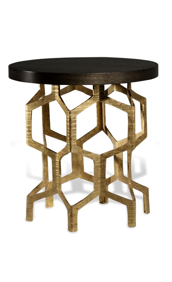Designer art metal side table sharing luxury designer - Metal side tables for living room ...