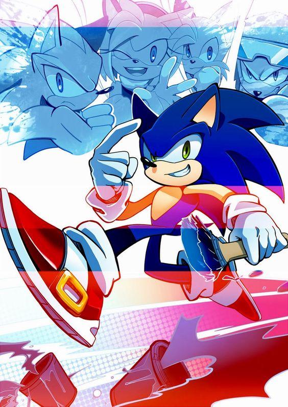 Sonic the hedgehog.