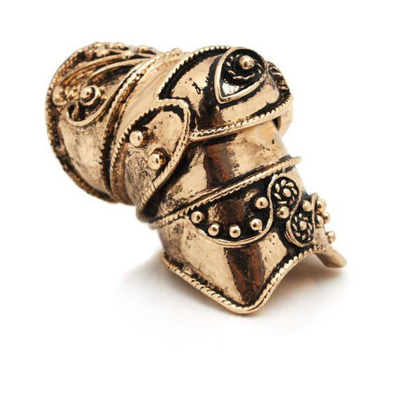 evil eye shield ring ($10) ❤ liked on Polyvore