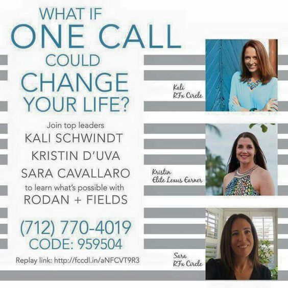 Looking for a change? Take 15 minutes and dial in to this business opportunity call. There are a myriad of different Rodan + Fields success stories -- yours could be next!
