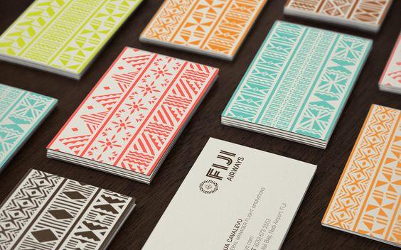 Fiji Airways identity by FutureBrand Australia: Graphic Design, Unique Business Cards, Geometric Pattern, Card Design, Design Art, Branding Identity