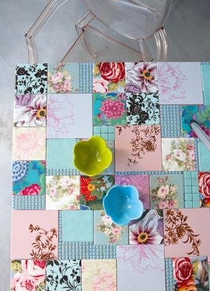 Patchwork mosaic table