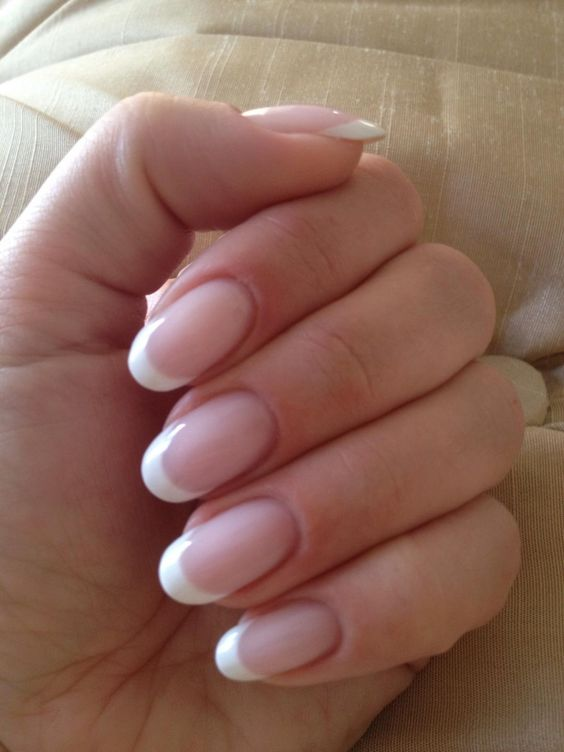 Manicures, Natural nails and French on Pinterest