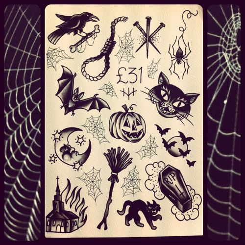 You know what time it is. Friday the 13th flash tattoos! | Tattoos ...