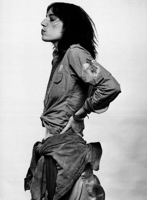Patti Smith somewhere in 70's , had her own style that has become iconic.