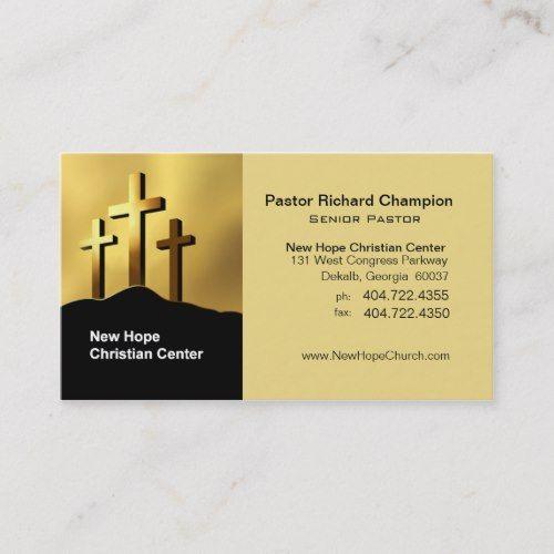 Calvary Crosses Christian Symbol Minister Pastor Business Card