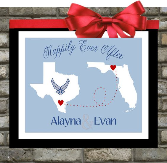 Wedding Gifts For Army Couples : ... After Quotes Hearts Wedding Gift Valentine Gift Military Wedding