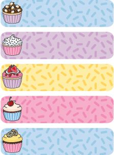 Iron-on Clothing Labels - Cupcake Design: