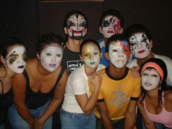 Oficina de Maquiagem Artística - Máscaras Venezianas - Professor: Fernando Pompeu (2005).