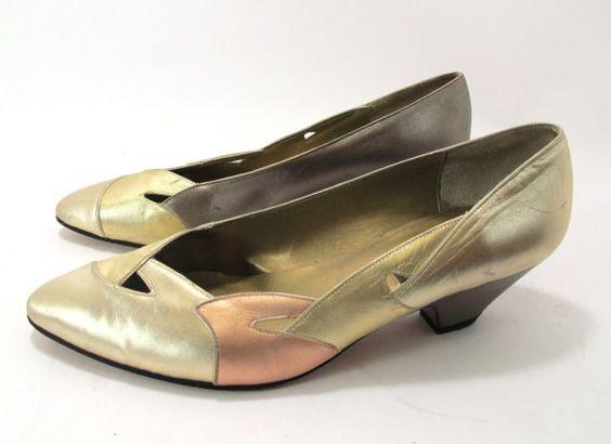 Silver Gold and Copper Sesto Meucci Chunky Kitten by kokorokoko, $34.00